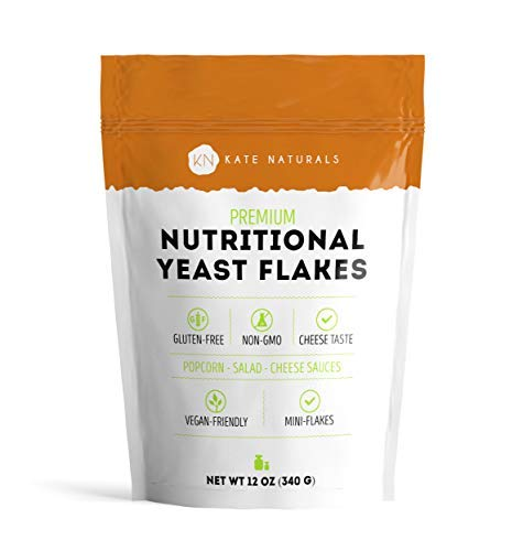 - Premium Nutritional Yeast Flakes - Kate Naturals. Taste Like Cheese. Perfect For Cheese Sauce, Popcorn, Salad, and Cooking. Gluten-Free & Non-GMO. Large Resealable Bag. 1-Year Guarantee. (12oz).
