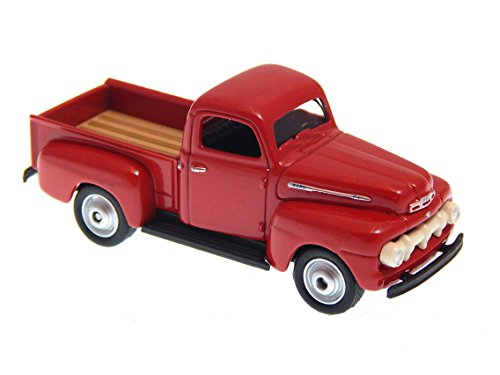 Truck Pickup Ford F1 - Ford F1 Pick Up Truck 1951 Red 1:60 Welly