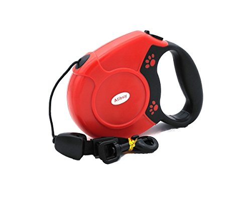 Alibuy Retractable Dog Leash 26ft,Walking Pet Doggie Leashes For Small Medium Large Dogs,Red (Retractable Leash Dog Animal)
