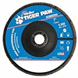 Tiger Paw Super High Density Flap Discs, 9'', 40 Grit, 7/8 Arbor, 8,600