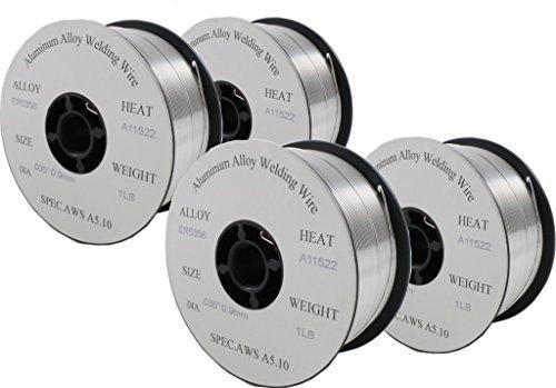 "ER5356- MIG Aluminum Welding Wire - 1 Lb x 0.035"" (4 SPOOLS)"