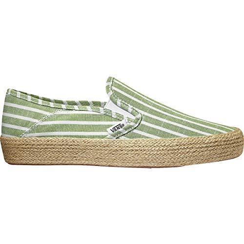 Vans U Slip-On ESP Casual Boot, Striped Linen Garden Green/True White, 6.5 VN0A3MVBVT2-6.5 US/8 US (Vans Women Boots)