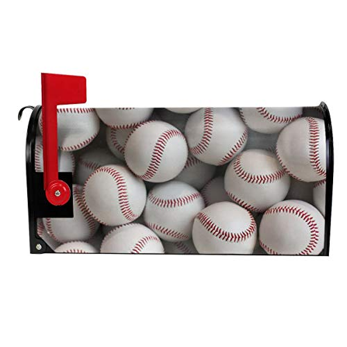 GKEEHR Mailbox Cover Baseball Wallpaper Stripe Mailbox Covers Standard Size Stripe Magnetic Mail Cover Letter Post Box