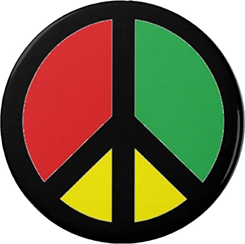 QTY 10 Rasta Peace Sign Flag 2.25