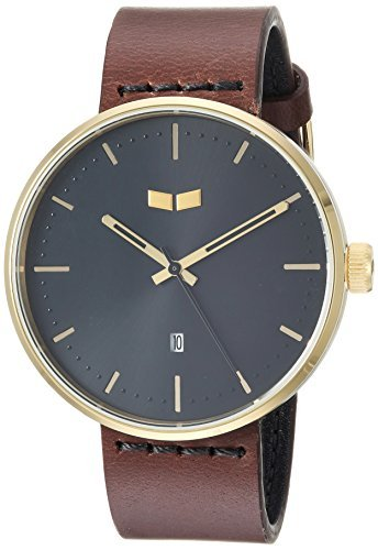 Vestal 'Roosevelt Italian' Quartz Stainless Steel and Leather Dress Watch Color:Brown (Model: RS42L06.DB) [並行輸入品] B078B9SG4J