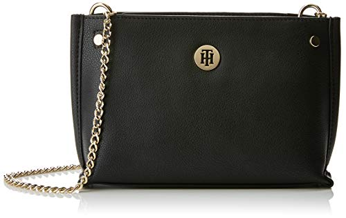 Hilfiger Crossover Tommy Women's Cross Chain Tommy Bag Body Black FxqUqnaw