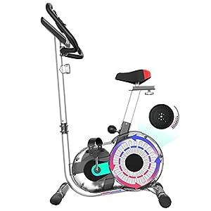 Allenamento Spin Bike Professionale Cyclette Aerobico Home Trainer, Display Intelligente, Rilevazione Della Frequenza Cardiaca, Regolazione Della Resistenza a 8 Livelli, Volano Magnetico Silenzio