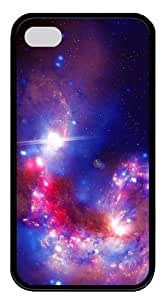 crazy covers Purple Star Dust TPU Black Case for iphone 4/4S