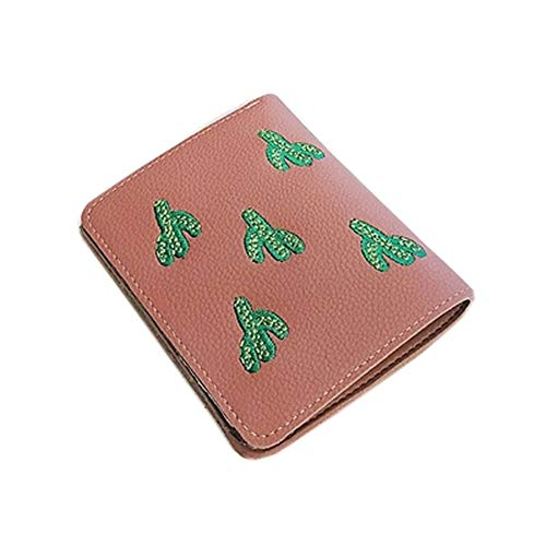 LetsYoga Fashion Embroidered Card Holder Deluxe Design Women's Wallet, Mini -