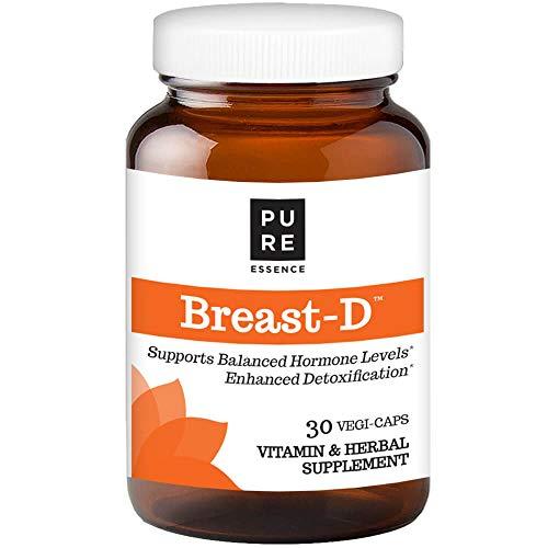 Pure Essence Labs Breast D - Vitamin D3 With DIM - Calcium D-Glucarate - Green Tea & Lycopene - 30 Vegetarian Capsules