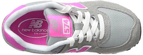 New Balance 574, Zapatillas Altas Unisex Niños Grey/Pink