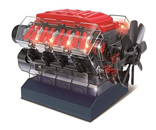 OWI Robotics Vroom! Stem V8 Model Combustion Engine, -