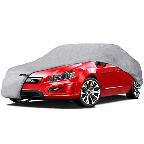 Motor Trend 4-Layer 4-Season (Waterproof Outdoor UV Protection for Heavy Duty Use Full Cover for Cars up to 157