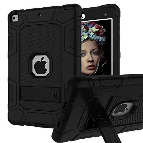 iPad Mini 5 Case, iPad Mini 5th Generation Case, Hybrid Three Layer Armor Shockproof Rugged Drop Protection Cover Case Built with Kickstand for iPad Mini 5 7.9