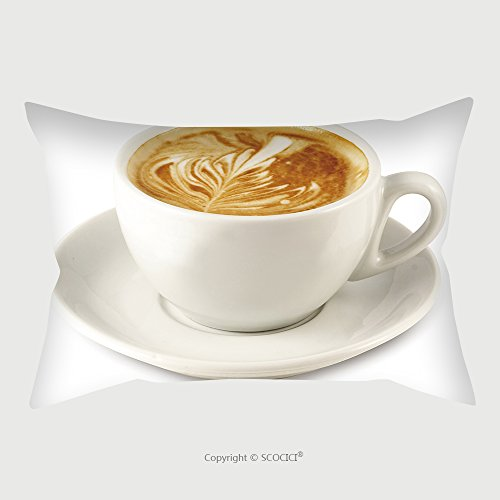 Custom Satin Pillowcase Protector Cappuccino Cup With Clipping Path For Easy Background Removing If Needed 2571687 Pillow Case Covers Decorative by chaoran