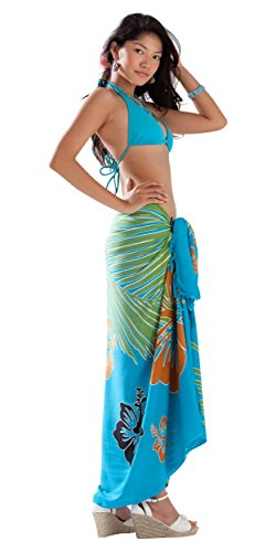 Pareo up 1 Tropical Women Swimsuit For Cover World Turquesa Floral 5aaq6