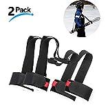 LAWOHO Shoulder Ski Carrier Straps Sling with Cushioned Holder - Adjustable - Ski Shoulder Lash Handle Straps