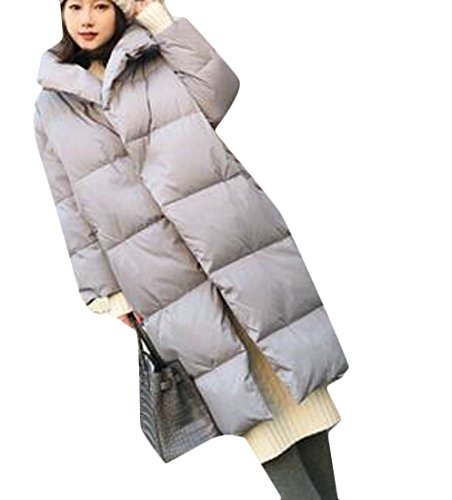 Warm UK Long Down Down Womens Hooded Winter Jacket Grey Overcoat today Cotton RZ7fwqxq