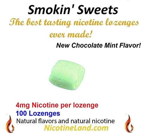 Smoking Cessation Aid - Smokin' Sweets - Nicotine Lozenge 4mg - 200 Chocolate Mint Flavor Lozenges - Quit Smoking Cessation Aid - Nicotine Patches and Nicotine Gum Replacement Therapy