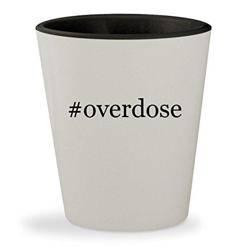 Gungrave Hat - #overdose - Hashtag White Outer & Black Inner Ceramic 1.5oz Shot Glass