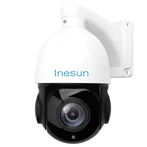 Inesun HD 1080p Outdoor PTZ (20x Optical Zoom) IP Camera - IP66 Waterproof Security Camera IR Night Vision 300ft Support H.265/ ONVIF/ P2P/ Motion Detection ()