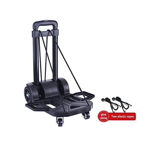 Chassis Reinforcement - ZCF YEUX Hand Trucks Luggage Cart Traveler Folding Trolley Family Car Shopping Cart Light Outdoor Hand Utility Vehicle (Universal Wheel Reinforcement, Chassis Can Be Expanded) (Color : A)