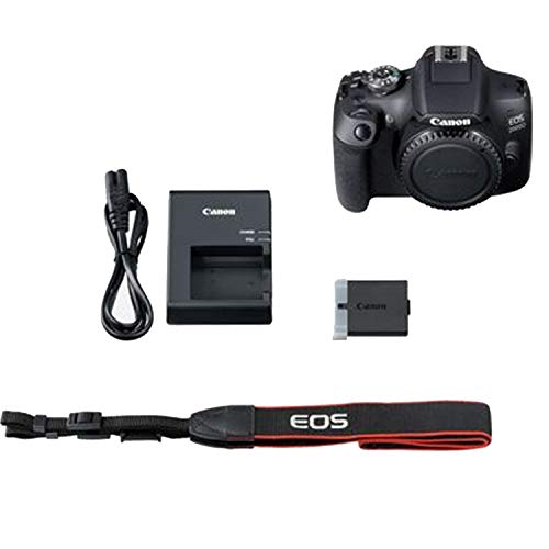 Canon EOS 2000D / Rebel T7 DSLR Camera Body Only (No Lens) + 32GB SD Card + More