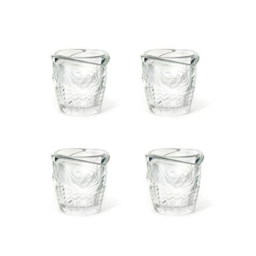 Kikkerland Shot Glasses, Fish, Clear -