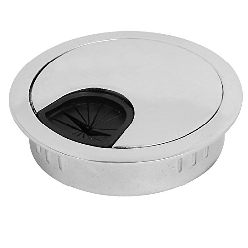 uxcell Stainless Steel Desktop Computer Table Grommet Cable Cord Hole Cover 53mm Dia