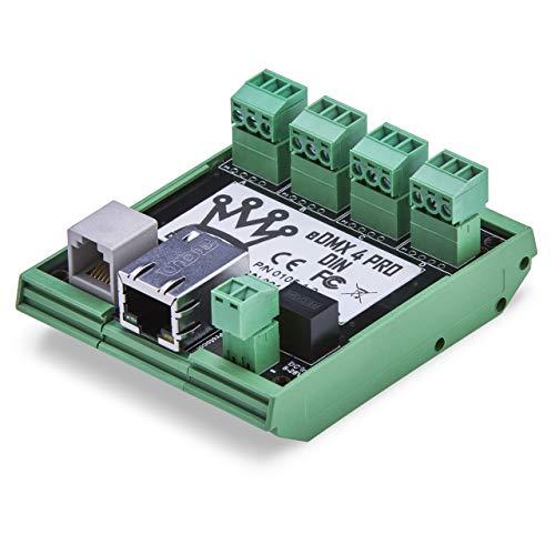 DMXking eDMX4 DIN 4-Port - ArtNet/sACN via Ethernet to DMX 512 Converter with Screw Connectors
