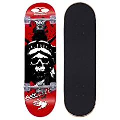 Deck specifications: Deck length:31 inchesDeck width: 8 inchesWheel specifications:Wheel diameter: 50*36mmWheel suggested use: street Wheel surface: treaded Package including:1*Skateboard