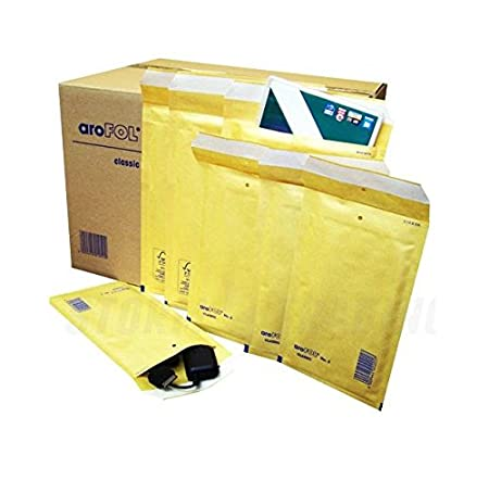 100 x LITE PADDED ENVELOPES BUBBLE MAIL BAGS 180x265 mm AR4 D//1 GOLD COLOUR