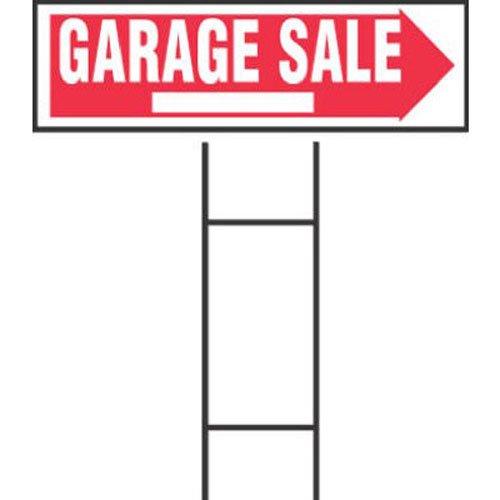 Hy-Ko Products RS-804 Garage Sale Corrugated Plastic Sign w/ H Bracket 9.25