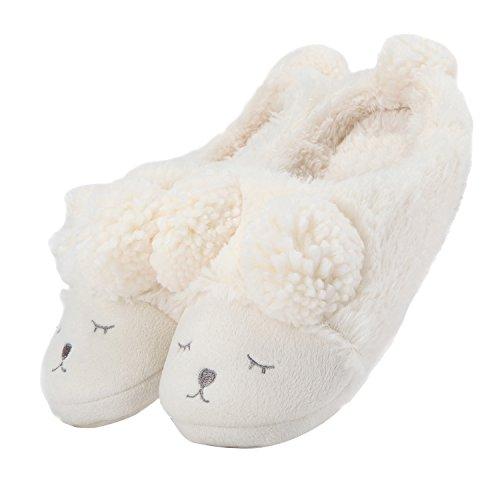 147a5d429da MiYang Warm Indoor Slippers for Women Fleece Plush Bedroom Winter Boots
