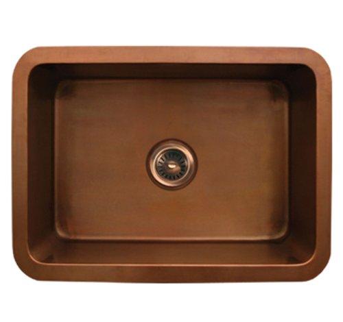Whitehaus WH2519COUM-SCO Haus 25-Inch Rectangular Undermount Sink with Smooth Texture, Smooth - Whitehaus Sink Rectangular Copper