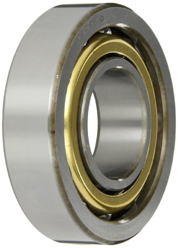 NSK 7309BYG Angular Contact Ball Bearing, Single Row, 40° Contact Angle, Straight Bore, Flush Ground, Stamped Brass Cage, Normal Clearance, 45mm Bore, 100mm OD, 25mm Width, 4400rpm Maximum Rotational Speed, 8270lbf Static Load Capacity, 12300lbf Dynamic Load Capacity