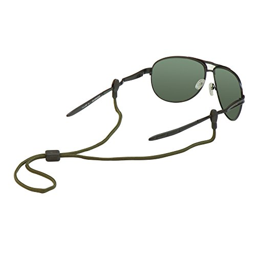 Chums Slip Fit 3mm Rope Eyewear Retainer, Olive by Chums