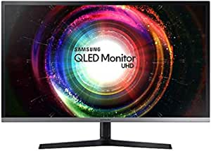 """Samsung LU32H850UMEXXS UHD Height Adjustable QLED Monitor with Quantum Dot Colours, 31.5"""", Black/Silver"""