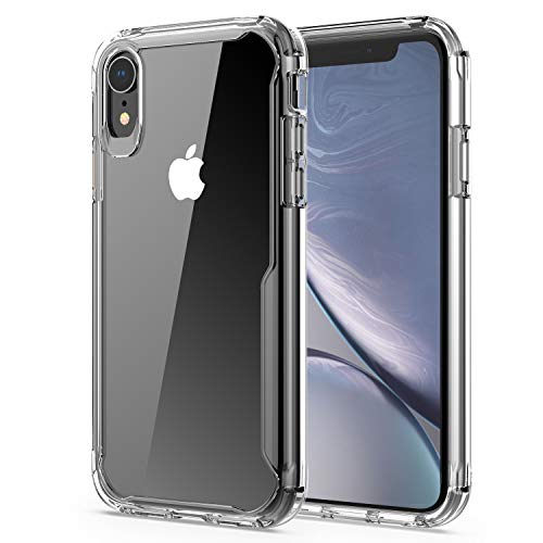 iPhone XR Case, Soft Shockproof Case Heavy Duty Protective Cover Shock Absorption Case,Reinforced Corners TPU Bumper Hard PC Back Cover for iPhone XR 6.1 inch (Crystal Clear)