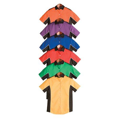 Hilton Ladies Infineon Retro Bowling Shirt (Medium, Royal...