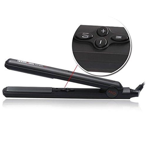 MHD Professional Hair Flat Iron 1 Inch Ceramic Hair Straightener Tourmaline Flat Irons LCD Display Fast Heat Up 284℉-450℉