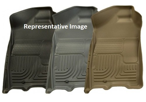 TAN 2ND SEAT FLOOR LINER - 1999-2007 Ford F-250 Super Duty, 1999-2007 Ford F-350 Super Duty Super Duty Crew Cab trucks. CLASSIC STYLE (Tan 2nd Seat)