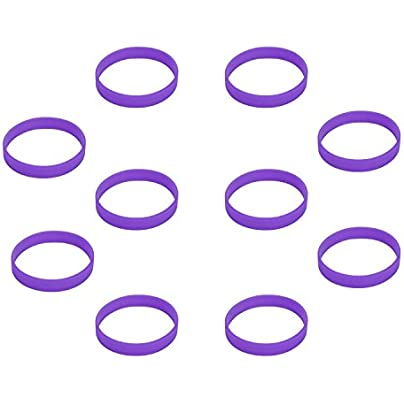 Hoerev Blank Silicone Charity Wristbands Bracelets Rubber Sport Cuff Wristband 10pcs Estimated Price £6.99 -