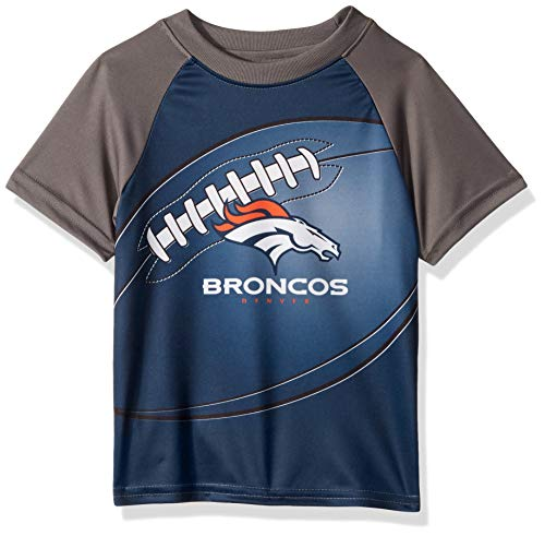 Denver Broncos Football Baby Onesie - NFL Denver Broncos Unisex-Baby Short-Sleeve Tee, Blue, 18 Months