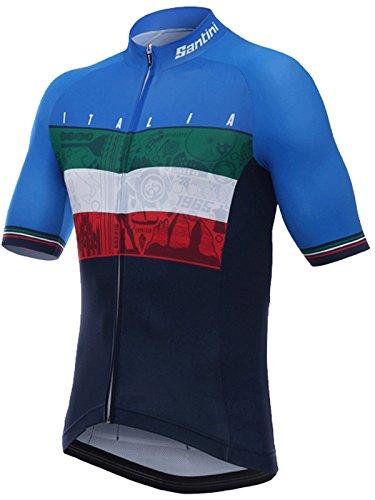 Santini-Blue-2018-Emblem-Short-Sleeved-Cycling-Jersey
