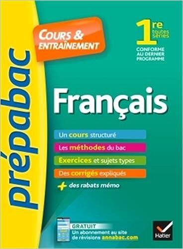 Français 1re toutes séries - Prépabac Cours & entraînement: cours, méthodes et exercices de type bac première: Amazon.es: Hélène Bernard, Bertrand Darbeau: ...