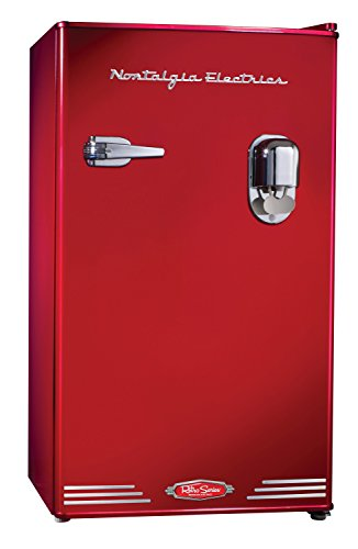 Nostalgia Electrics RRF300DNCBLK 3.0 Retro Series 3.0-Cubic Foot Compact Refrigerator with Exterior Beverage...