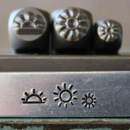 - 5mm and 3mm Sunrise, Sun and Mini Sun Metal Punch Design Jewelry 3 Stamp Set