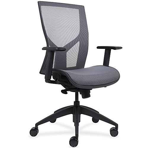 Lorell Made in America High-Back Chair with Mesh Back & Seat