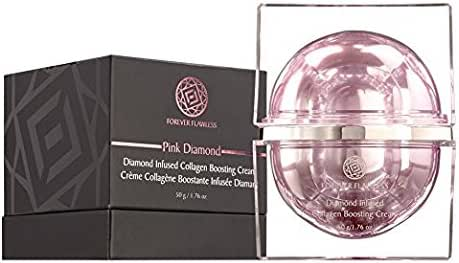 Forever Flawless Diamond Infused Collagen Boosting Cream Designed for Anti-Aging, Facial Moisturizer for Women, Anti-Wrinkle, Collagen Booster for Face and Neck, FF32 (1.76 oz)